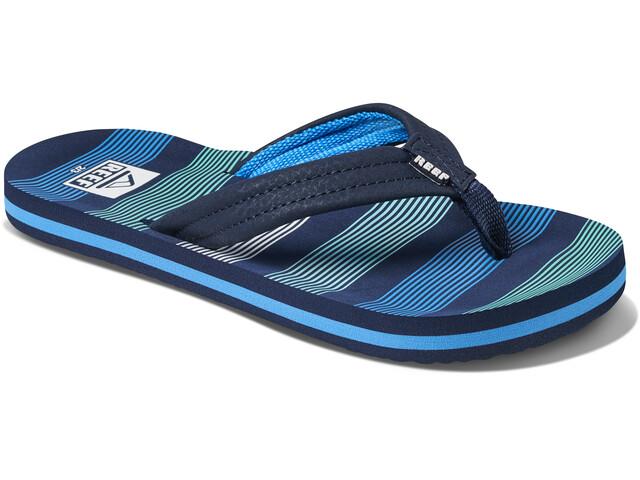 Reef Ahi Sandals Boys deep sea stripes